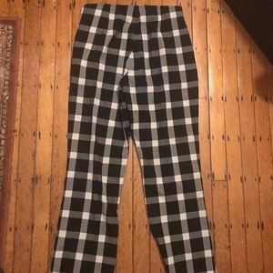 Gap High rise crop Flare plaid pants